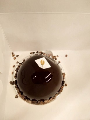 mirror hazelnut cake