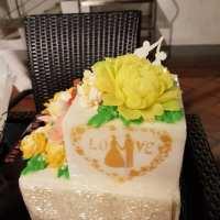 agar agar cake layer